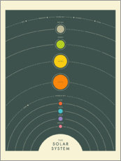 Gallery Print  THE SOLAR SYSTEM - Jazzberry Blue