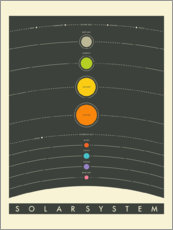 Wall sticker  The Solar System - Jazzberry Blue