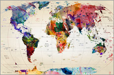 Gallery print  Map of the world - Mark Ashkenazi
