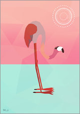 Wall sticker  PINK FLAMINGO - Mark Ashkenazi