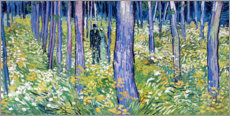 Canvas print  Undergrowth with two figures - Vincent van Gogh