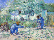 Premium poster  First Steps (after Millet) - Vincent van Gogh