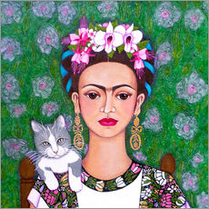 Wall sticker  Frida cat lover - Madalena Lobao-Tello
