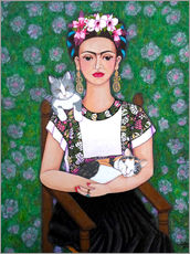 Gallery print  Frida cat lover - Madalena Lobao-Tello