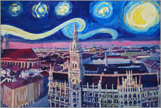 Gallery print  Starry Night in Munich - M. Bleichner