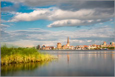 Gallery print  View over the river Warnow to Rostock (Germany) - Rico Ködder