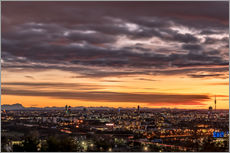 Wall sticker  Sunset over Munich (Bavaria) - Achim Thomae