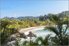 Gallery print  Beach and tropical forest, Manuel Antonio National Park, Costa Rica - Matteo Colombo