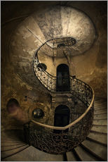 Wall Stickers  Old spiral staircase - Jaroslaw Blaminsky