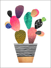 Wall sticker  Happy cactus - Elisabeth Fredriksson