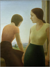 Wall sticker  Two girls at the window - Georg Schrimpf
