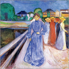 Acrylic print  The Ladies on the Bridge - Edvard Munch