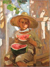 Wall sticker  Boy with watermelon - Joaquín Sorolla y Bastida