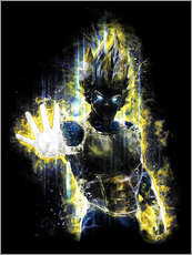 Wall sticker  Vegeta Fury - Barrett Biggers