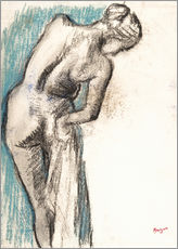 Gallery print  Woman drying herself - Edgar Degas