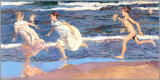 Gallery print  Running Along the Beach - Joaquin Sorolla y Bastida