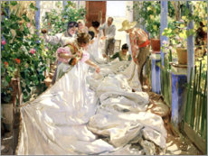 Canvas print  Sewing the sail - Joaquin Sorolla y Bastida