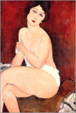 Gallery print  Seated nude on a sofa (or: La belle Romaine) - Amedeo Modigliani