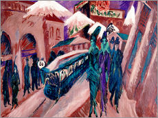 Wall sticker  Leipziger Strasse with electric train - Ernst Ludwig Kirchner