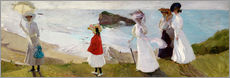 Wall sticker  Lighthouse Walk at Biarritz - Joaquin Sorolla y Bastida