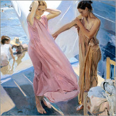 Gallery print  After Bathing, Valencia - Joaquín Sorolla y Bastida