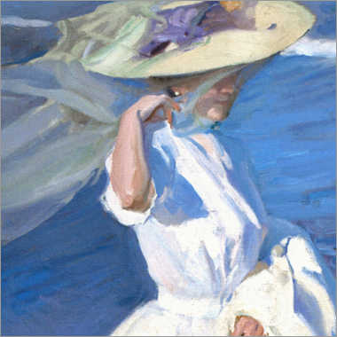 Foam board print  On a Beach Walk, detail - Joaquín Sorolla y Bastida