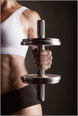 Gallery print  Sportswoman with Dumbbell