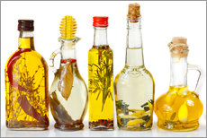 Gallery print  Homemade olive oil with spices and herbs