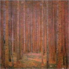 Gallery print  Fir tree forest I - Gustav Klimt