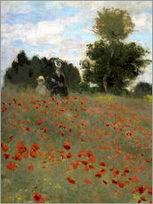 Gallery print  Poppy field at Argenteuil - Claude Monet
