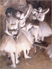 Gallery print  Ballet rehearsal on stage - Edgar Degas