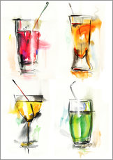 Gallery print  Colorful drinks