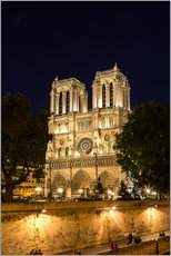 Gallery print  Notre Dame by night, Paris
