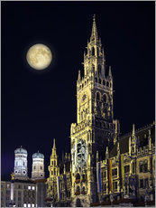 Wall sticker  Night scene from Munich Town Hall