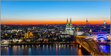Wall sticker Colorful Cologne skyline at night