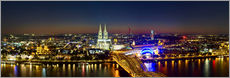Wall Stickers  A panoramic view of cologne at night