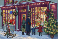 Wall sticker  Toy Shop at Christmas - Steve Read