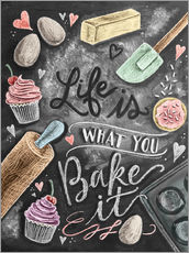 Gallery print  Life is what you bake it - Lily & Val