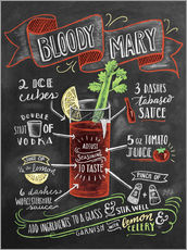 Gallery print  Bloody Mary recipe - Lily & Val