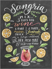 Wall sticker  Sangria recipe - Lily & Val