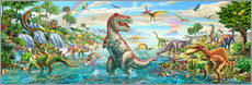 Wall Stickers  Prehistoric Panorama - Adrian Chesterman