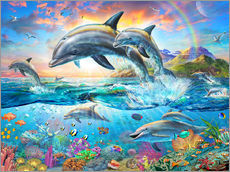 Wall Stickers  Dolphin Family - Adrian Chesterman