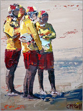 Gallery print  Three lifeguards - Claire McCall