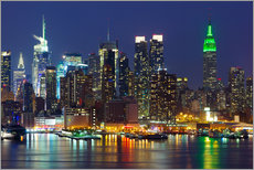 Wall sticker  New York City at night over Hudson river