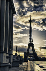Gallery print  Colors of Eiffel Tower in Winter