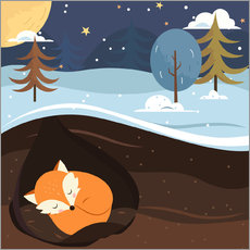Gallery print  Resting fox - Kidz Collection