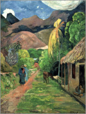 Aluminium print  Road into the mountains - Paul Gauguin