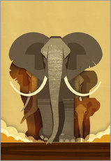 Wall sticker  Elephants - Dieter Braun