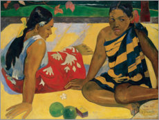Canvas print  Two Tahiti women - Paul Gauguin