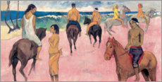 Aluminium print  Rider on Beach - Paul Gauguin